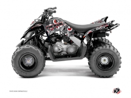 Yamaha 90 Raptor ATV Freegun Eyed Graphic Kit Red