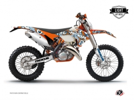 KTM EXC-EXCF Dirt Bike Freegun Eyed Graphic Kit Orange LIGHT