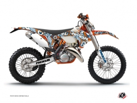 KTM EXC-EXCF Dirt Bike Freegun Eyed Graphic Kit Orange