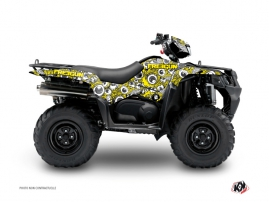 Suzuki King Quad 500 ATV Freegun Eyed Graphic Kit Yellow