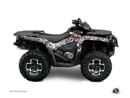Can Am Outlander 500-650-800 XTP ATV Freegun Eyed Graphic Kit Grey Red