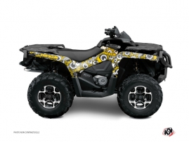 Can Am Outlander 500-650-800 XTP ATV Freegun Eyed Graphic Kit Yellow