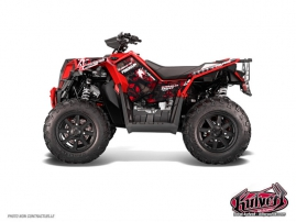 Polaris Scrambler 850-1000 XP ATV Freegun Graphic Kit Red FULL