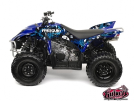 Yamaha 350-450 Wolverine ATV Freegun Graphic Kit Blue
