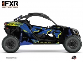 Can Am Maverick X3 UTV FXR N1 Graphic Kit Blue