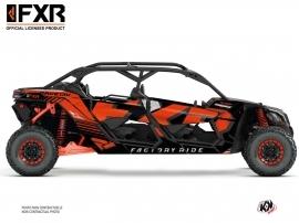 Can Am Maverick X3 MAX UTV FXR N1 Graphic Kit Red