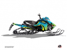 Arctic Cat ASCENDER Snowmobile Gage Graphic Kit Blue Yellow
