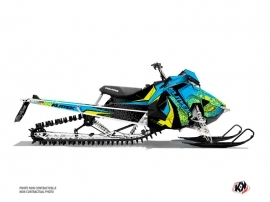 Polaris Axys Snowmobile Gage Graphic Kit Blue Yellow