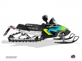 Arctic Cat CROSSFIRE / MSERIES Snowmobile Gage Graphic Kit Blue Yellow