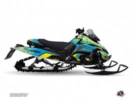 Yamaha FX NYTRO Snowmobile Gage Graphic Kit Blue Yellow