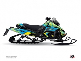 Yamaha FX NYTRO Snowmobile Gage Graphic Kit Blue Yellow