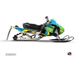 Kit Déco Motoneige Gage Polaris IQ RACER Bleu Jaune