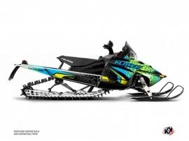 Polaris IQ RMK DRAGON Snowmobile Gage Graphic Kit Blue Yellow