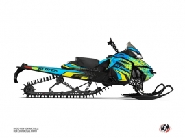 Skidoo REV XM Snowmobile Gage Graphic Kit Blue Yellow