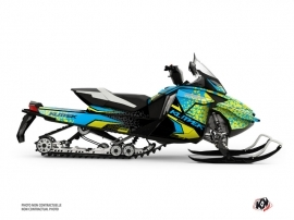 Skidoo REV XR Snowmobile Gage Graphic Kit Blue Yellow