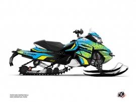 Kit Déco Motoneige Gage Skidoo REV XS Bleu Jaune