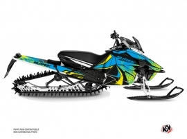 Yamaha SR Viper Snowmobile Gage Graphic Kit Blue Yellow