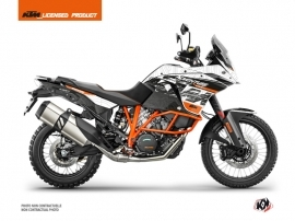 KTM 1090 Adventure R Street Bike Gear Graphic Kit White