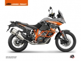 KTM 1190 Adventure R Street Bike Gear Graphic Kit Grey Orange