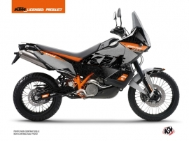 KTM 990 Adventure Street Bike Gear Graphic Kit Grey Orange