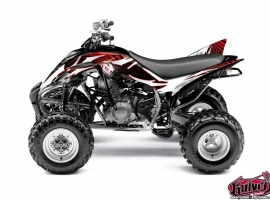 Yamaha 350 Raptor ATV Graff Graphic Kit Red