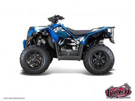 Polaris Scrambler 850-1000 XP ATV Graff Graphic Kit Blue FULL