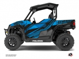 Kit Déco SSV Graphite Polaris GENERAL 1000 Bleu
