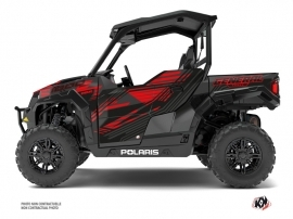 Kit Déco SSV Graphite Polaris GENERAL 1000 Noir Rouge