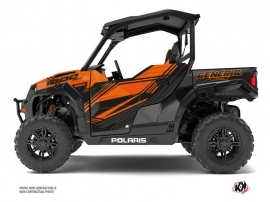 Polaris GENERAL 1000 UTV Graphite Graphic Kit Orange
