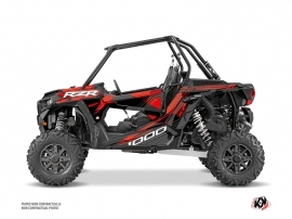 Polaris RZR 1000 UTV Graphite Graphic Kit Black Red