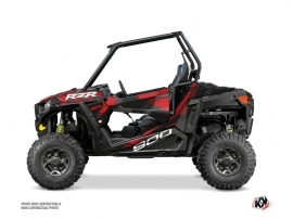 Polaris RZR 900 S UTV Graphite Graphic Kit Black Red