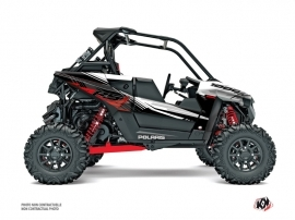 Polaris RZR RS1 UTV Graphite Graphic Kit White Red