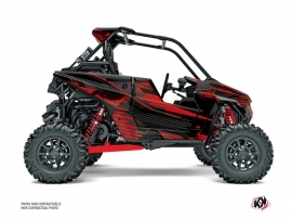 Polaris RZR RS1 UTV Graphite Graphic Kit Black Red FULL