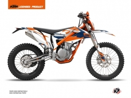 KTM 250 FREERIDE Dirt Bike Gravity Graphic Kit Blue