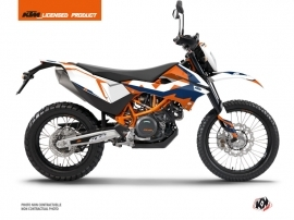 KTM 690 ENDURO R Dirt Bike Gravity Graphic Kit Blue