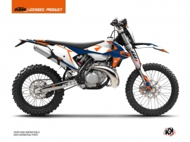 KTM EXC-EXCF Dirt Bike Gravity Graphic Kit Blue