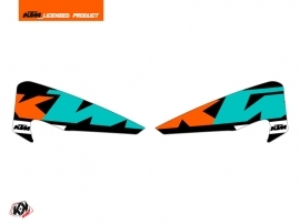 Graphic Kit Hand Guards Stickers Gravity Dirt Bike KTM EXC-EXCF Green