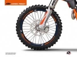 Graphic Kit Wheel decals Gravity Dirt Bike KTM SX-SXF EXC-EXCF Blue