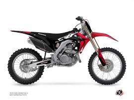 Kit Déco Moto Cross Halftone Honda 250 CRF Noir Rouge