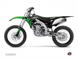 Kawasaki 450 KXF Dirt Bike Halftone Graphic Kit Black Green