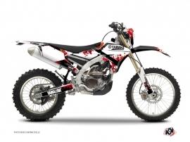 Yamaha 250 WRF Dirt Bike Hangtown Graphic Kit Red