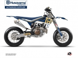 Husqvarna 450 FS Dirt Bike Heritage Graphic Kit Blue