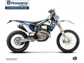 Husqvarna 250 FE Dirt Bike Heritage Graphic Kit Blue White