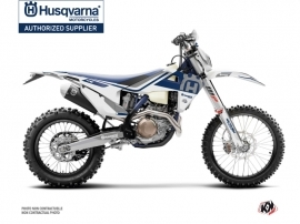 Kit Déco Moto Cross Heritage Husqvarna 350 FE Blanc Gris