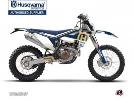 Husqvarna 501 FE Dirt Bike Heritage Graphic Kit Blue