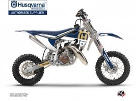 Husqvarna TC 50 Dirt Bike Heritage Graphic Kit Blue