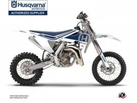 Husqvarna TC 50 Dirt Bike Heritage Graphic Kit White Grey