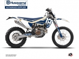 Husqvarna 250 TE Dirt Bike Heritage Graphic Kit White