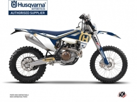 Husqvarna 250 TE Dirt Bike Heritage Graphic Kit Blue
