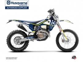 Husqvarna 300 TE Dirt Bike Heritage Graphic Kit Blue White